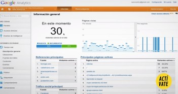 Zona de pruebas Google Analytics